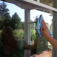 Fenster Trocken reiben
