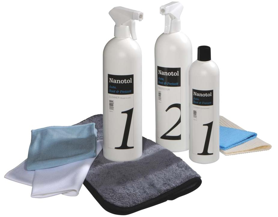 Nanotol Auto, Boot & Freizeit Set XL - car windscreen sealant and paint care