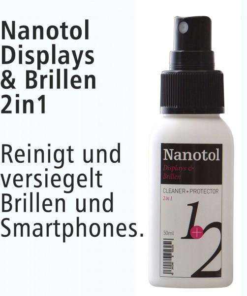 Nanotol Displays + Brillen 2in1 Cleaner+Protector Prämie 50ml