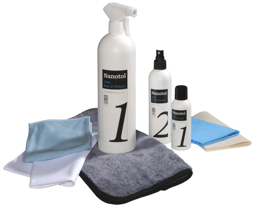 Nanotol Auto, Boot & Freizeit Set M - car windscreen sealant and paint care