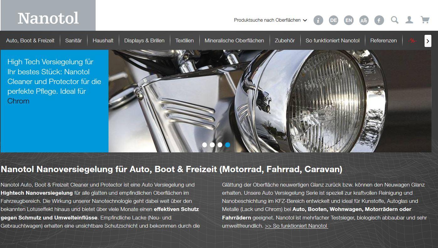 Nanotol Website