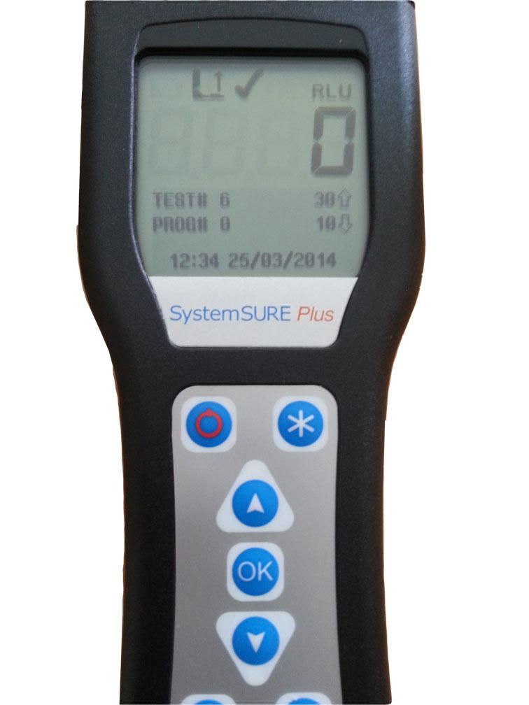 ATP Messung auf einem mit Nanotol Cleaner gereinigtem Smartphone