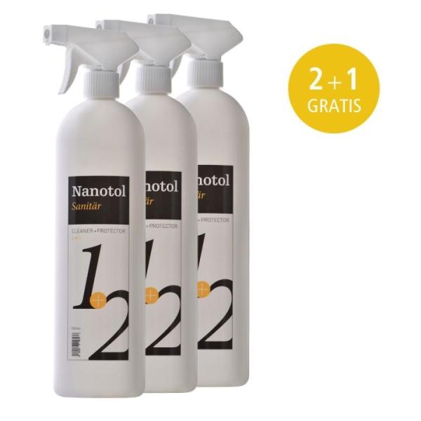 Nanotol Sanitär 2in1 Cleaner+Protector 1 Liter - 2+1 GRATIS