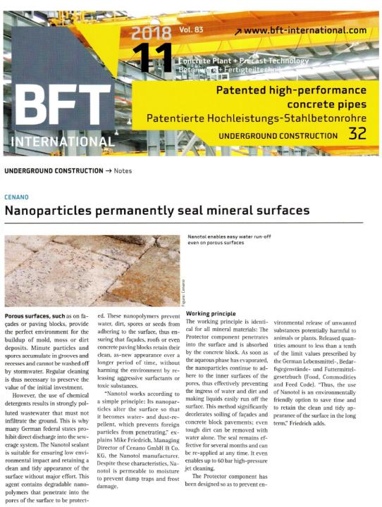 Nanoparticles seal mineral surfaces